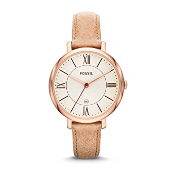 fbe0776cb4ee Amazon.com  Fossil Women s ES3487 Jacqueline Three Hand Leather ...