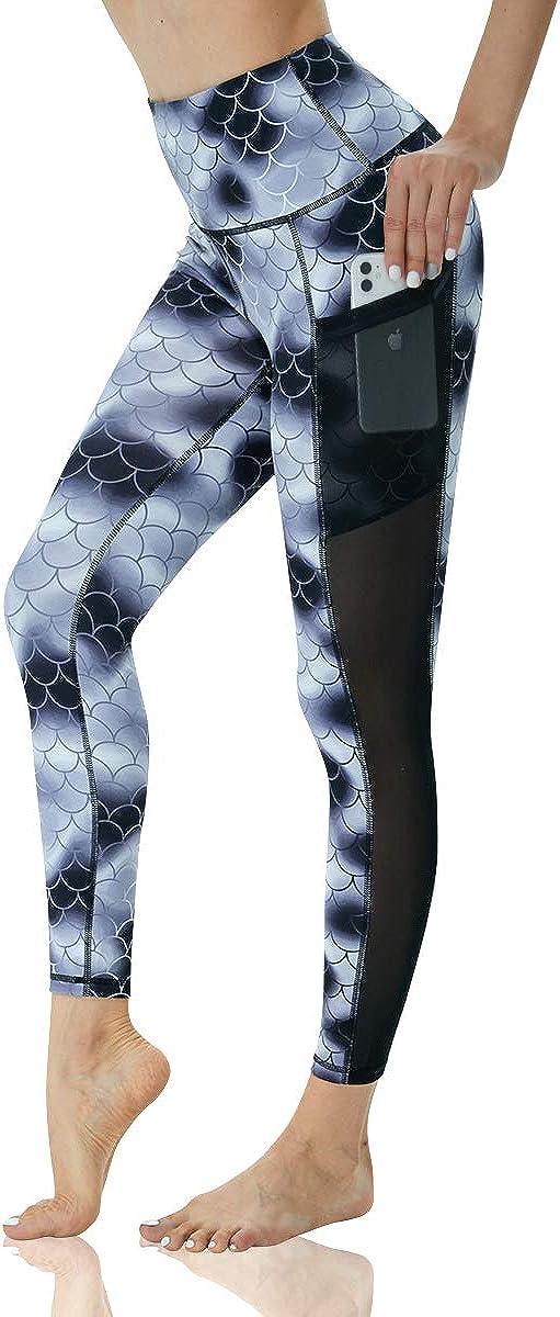 Tie Dye Women/'s Foldover Waistband yoga pants size Medium W81