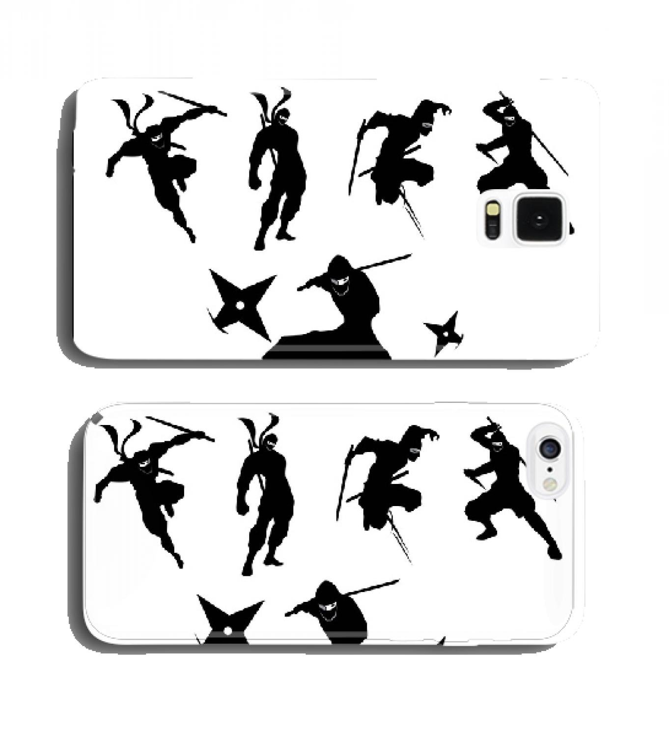 Ninja Shadow siluate Vector silhouette cell phone cover case ...
