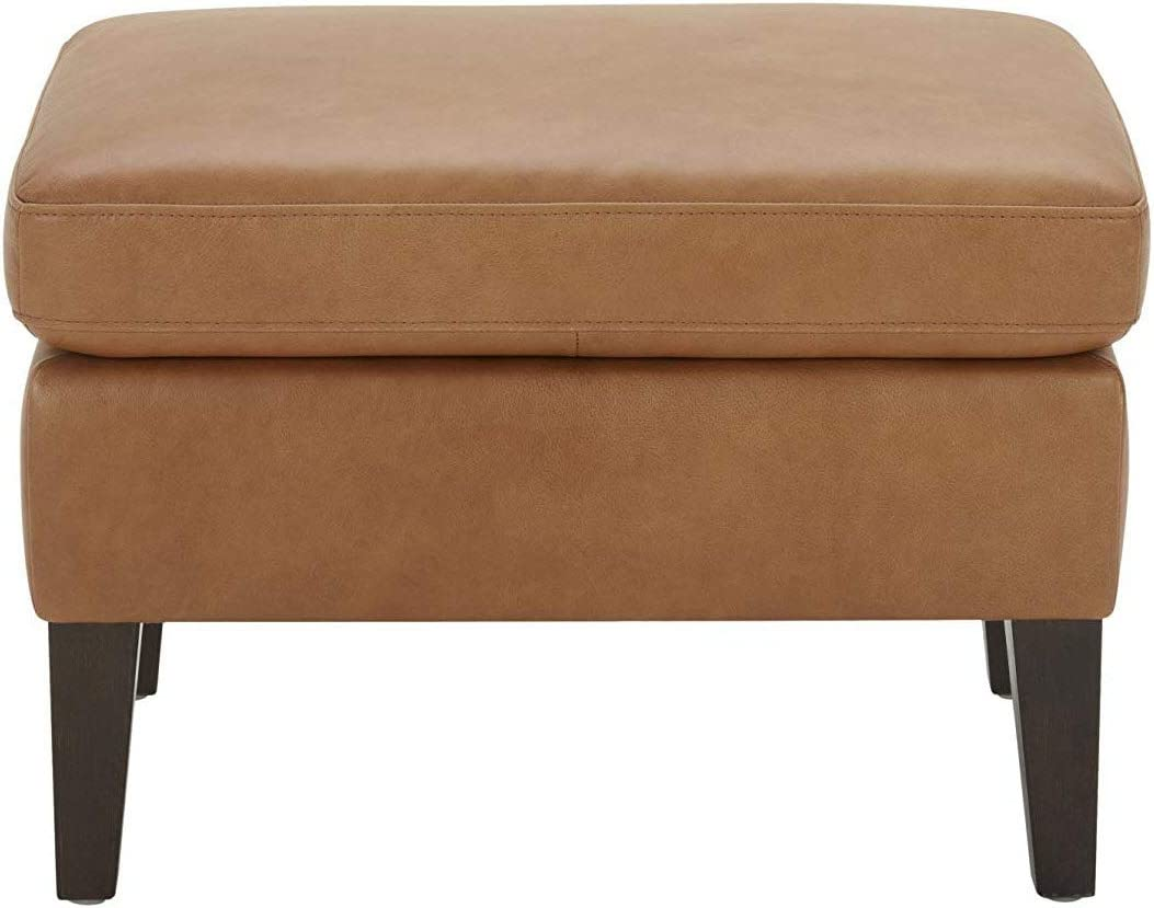 Amazon Brand Stone Beam Wingard Leather Ottoman