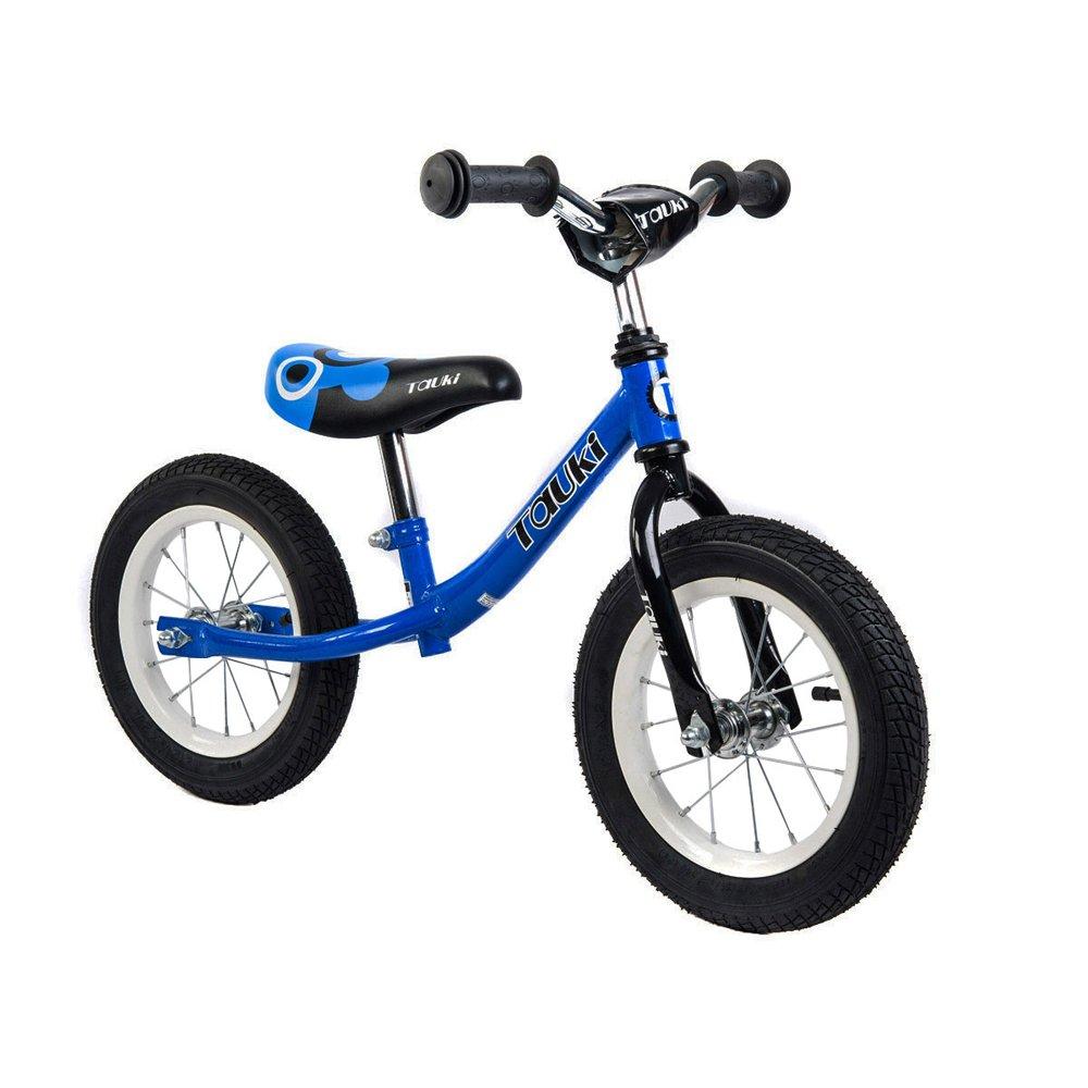 Tauki Kid Balance Bike No Pedal Push Bicycle, 12 Inch, Blue, 95% assembled