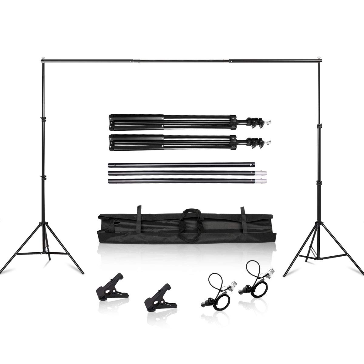 Heavy Duty Background Stand, 2x2M Backdrop Support System Kit with Carry Bag for Photography Photo Video Studio,Photography Studio by SH