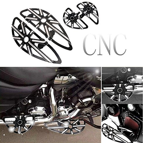 Jade CNC Deep Cut Front Driver & Rear Passenger Floorboard For Harley Touring Part ()