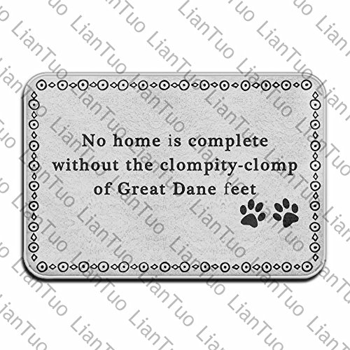 Megamagci No Home Is Complete Without The Clompity-clomp Of Great Dane Feet Vintage In Absorbent Non Slip Floor Rug Entrance Rug Dane Vintage Colors