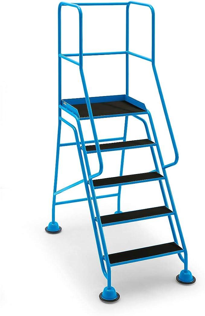Mobile Escalera con plataforma, 5 posiciones, con barandilla 301400112, goma – Conducción Bare Plataforma Escaleras de conducción Bare Plataforma Escaleras de conducción Bare Plataforma Escaleras mobile Plataforma Escaleras mobile Plataforma Escaleras ...