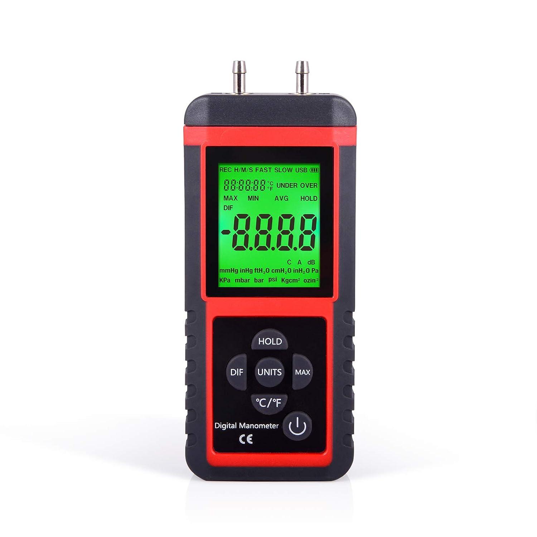 Manómetro Digital de presión de Aire con medidor de Gas con 32 bits