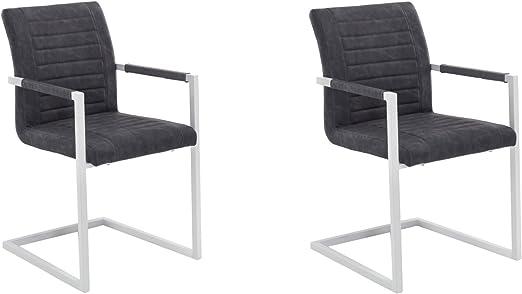 Woodkings® Schwingstuhl Set Picton Freischwinger mit