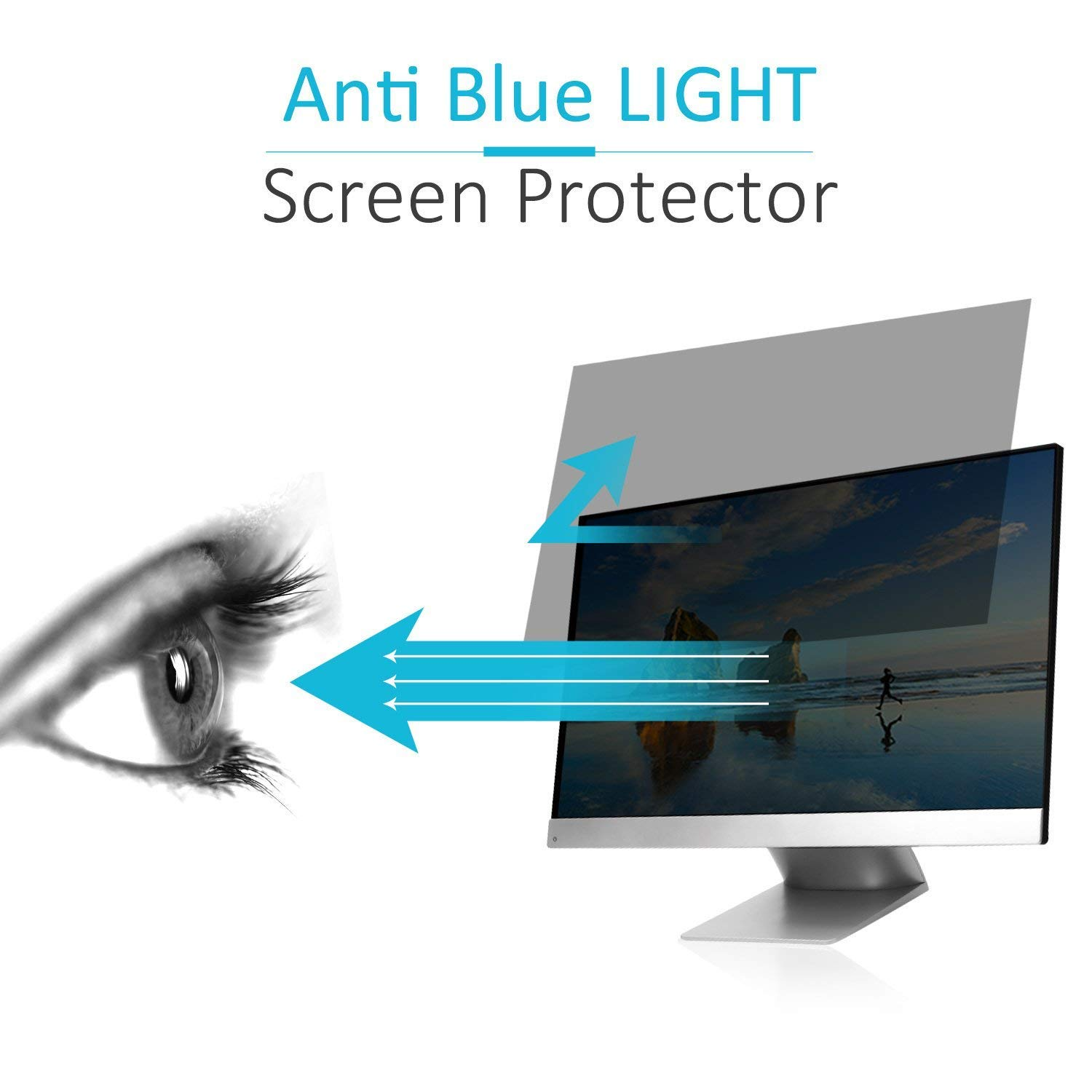 TOOGOO Privacy Filter Screen Protective Film for Widescreen Computer 16 Inch