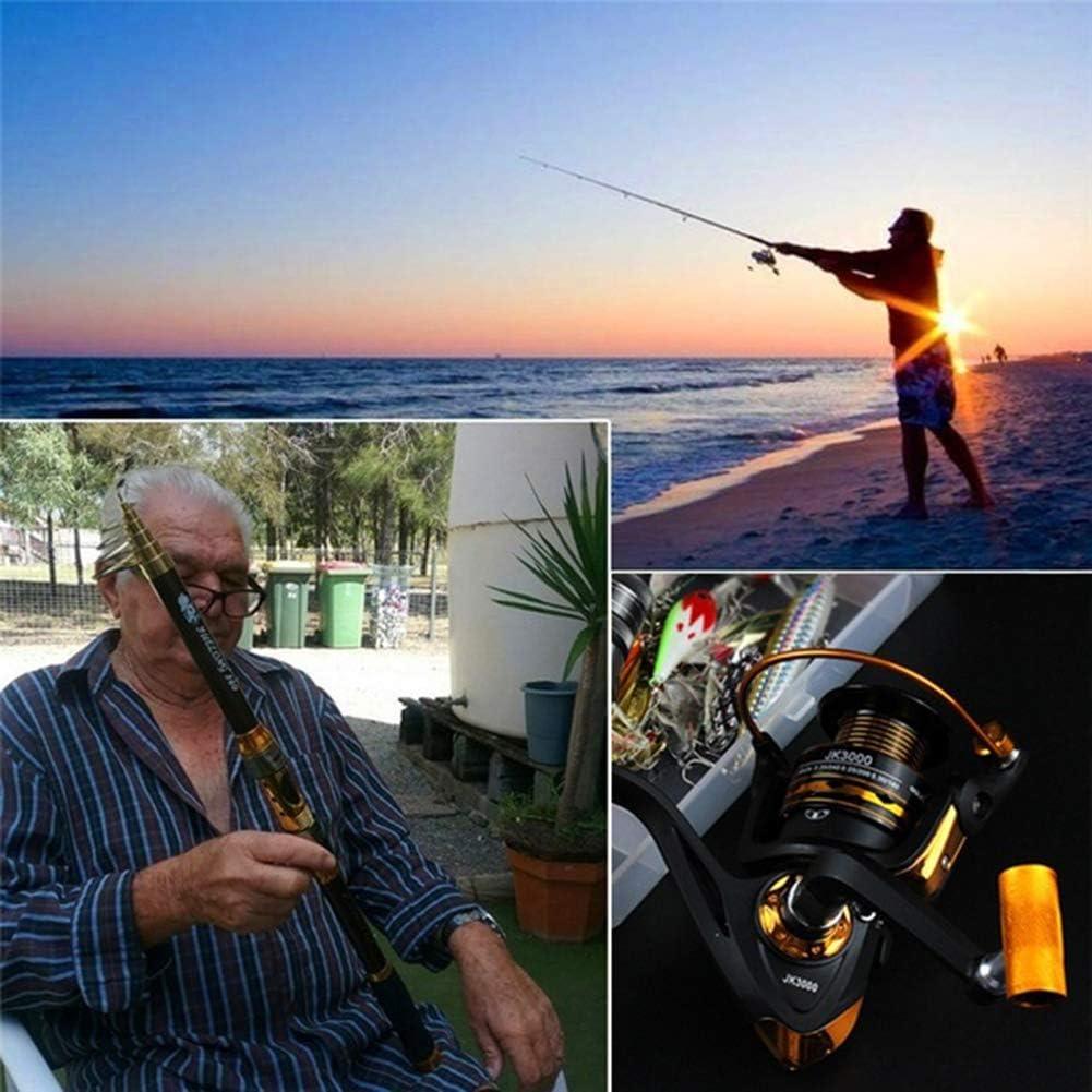 BESTEU Carbon steel 1.8//2.1//2.4//2.7//3.0//3.3 m fishing rod 3000 fishing reel retractable rod portable fishing set