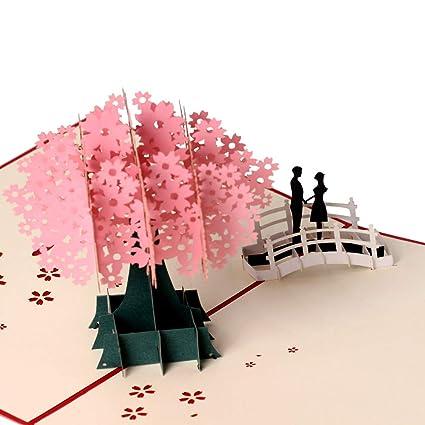 Tarjetas de felicitación 3D para parejas, regalo de ...