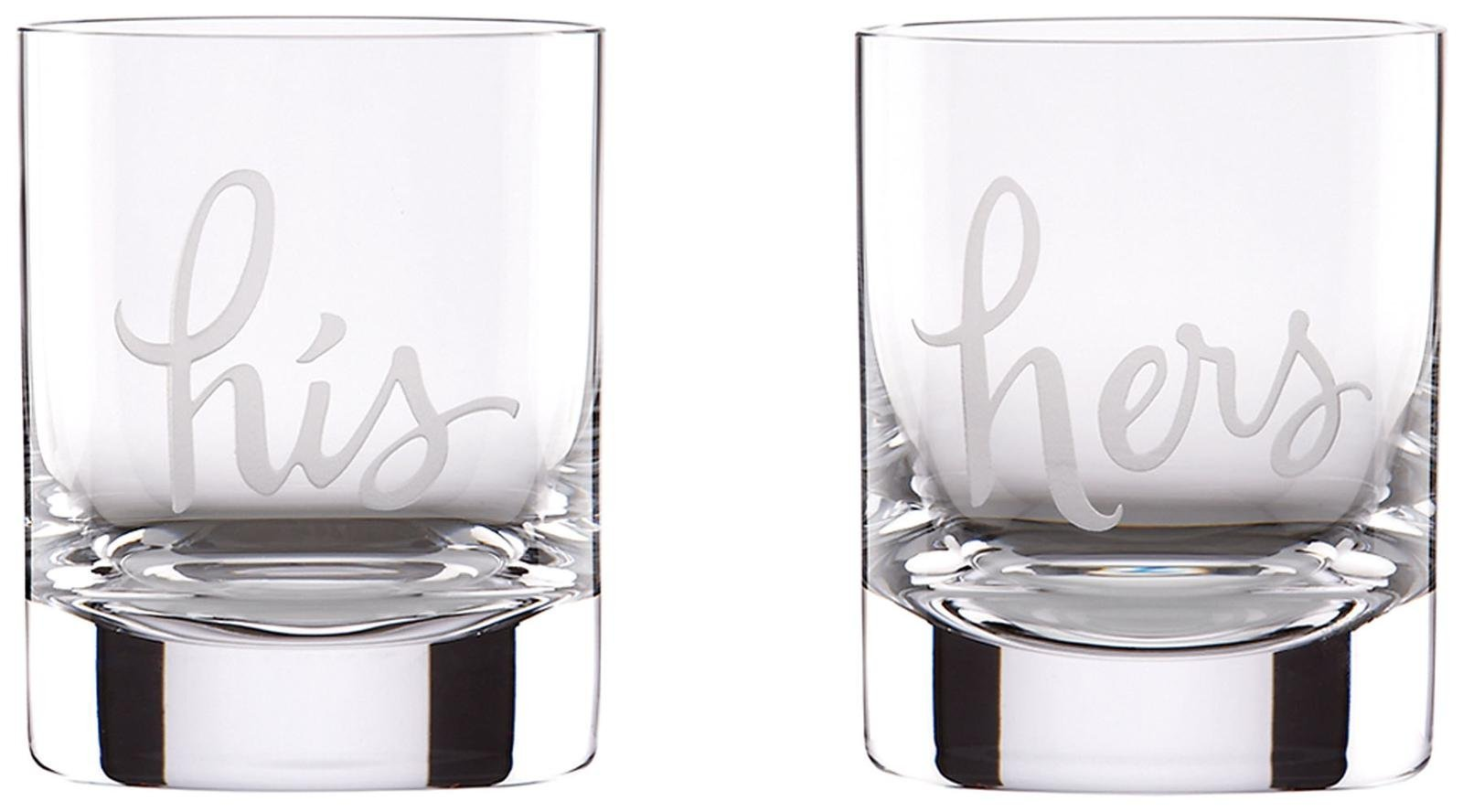 kate spade new york His & Hers 12 Ounce DOF Glass Set