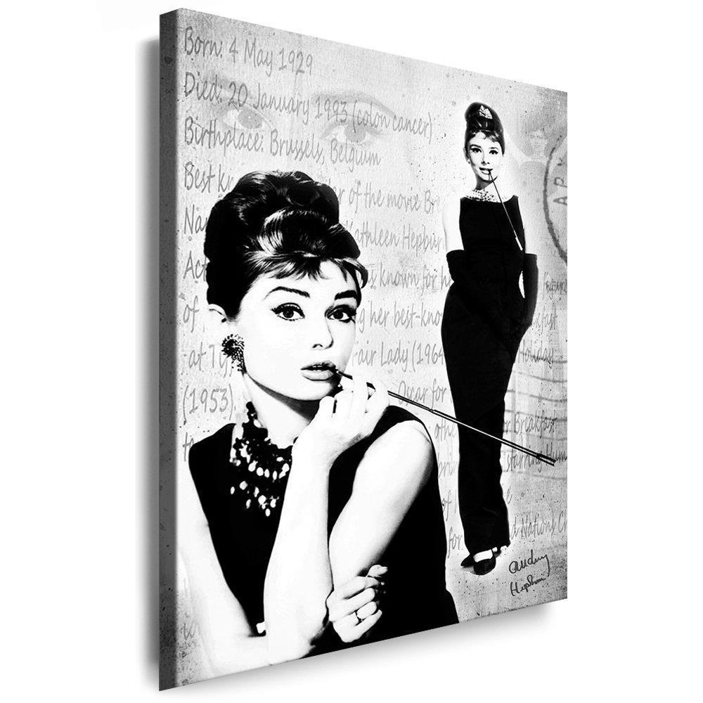 Bilder Kunstdrucke   Boikal   Bild mit Keilrahmen Audrey Hepburn 80x120 cm xxl.106