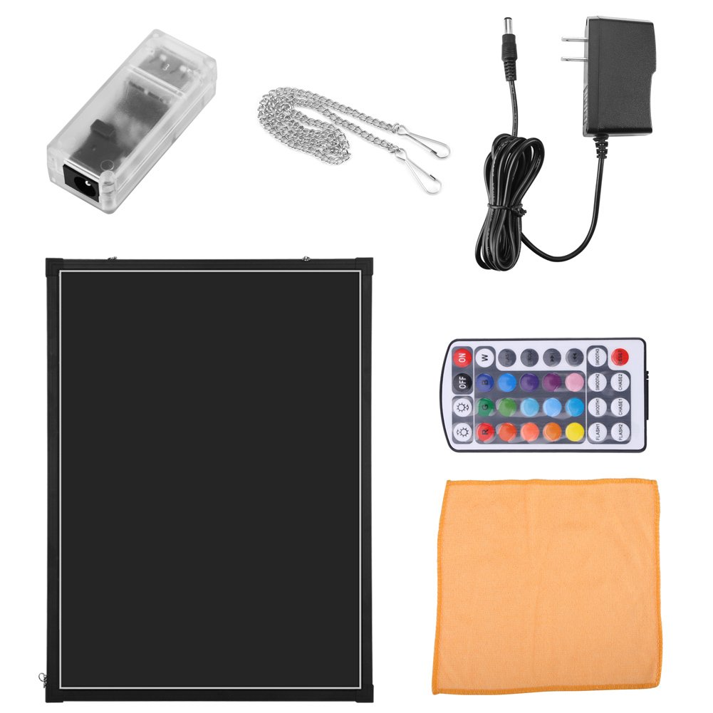 Cocoarm LED Message Writing Board Flashing Illuminated Fluorescence Erasable Menu Board 31''X24'' DIY Sign Chalkboard with Remote Controller Perfect for Kitchen Wedding Decoration Promotion Gift