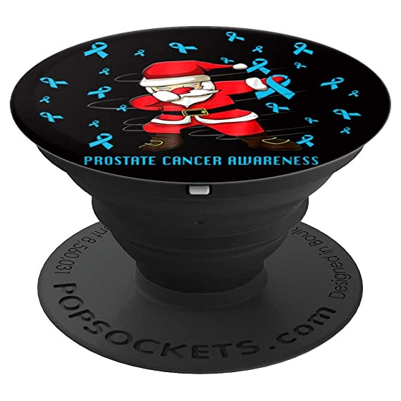 amazon com funny prostate cancer christmas gift dabbing santafunny prostate cancer christmas gift dabbing santa warrior popsockets grip and stand for phones and