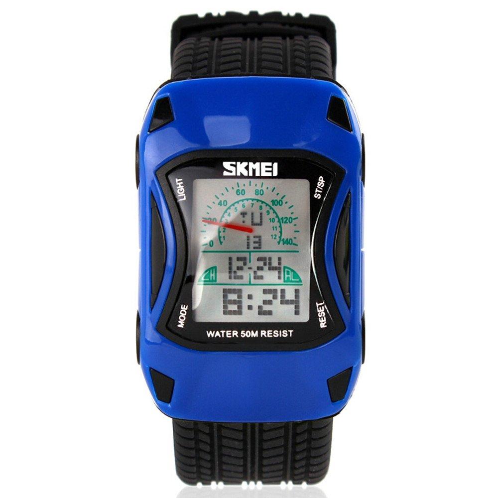 ALPS Kids LED Digital Kids Car Sports Waterproof Watches (Blue)
