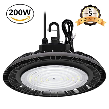 Cinoton Ufo Led High Bay Light 200w 450w 650 Equivalent Etl Approved 30000 Lumens 0 10v Dimable 5000k Daylight White Ip65 Waterproof Indoor