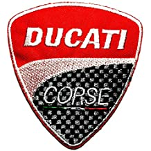 Ducati Corse service Motorcycles Biker Racing Sport logo patch Jacket T-shirt Sew Iron on Patch Badge Embroidery