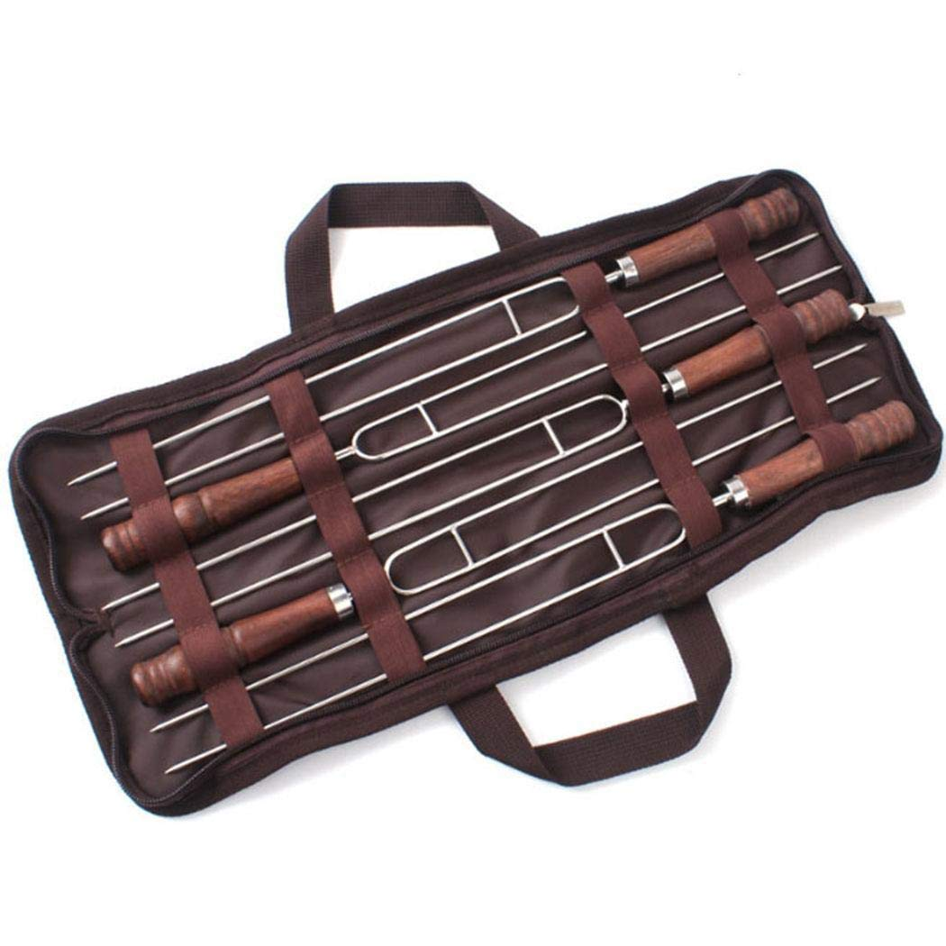 nawert 5PCS BBQ Telescoping Forks U Shape Roasting Sticks Barbecue Tool Barbecue Forks by nawert