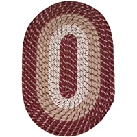 Plymouth 22 x 108 (Runner) Braided Rug in Burgundy