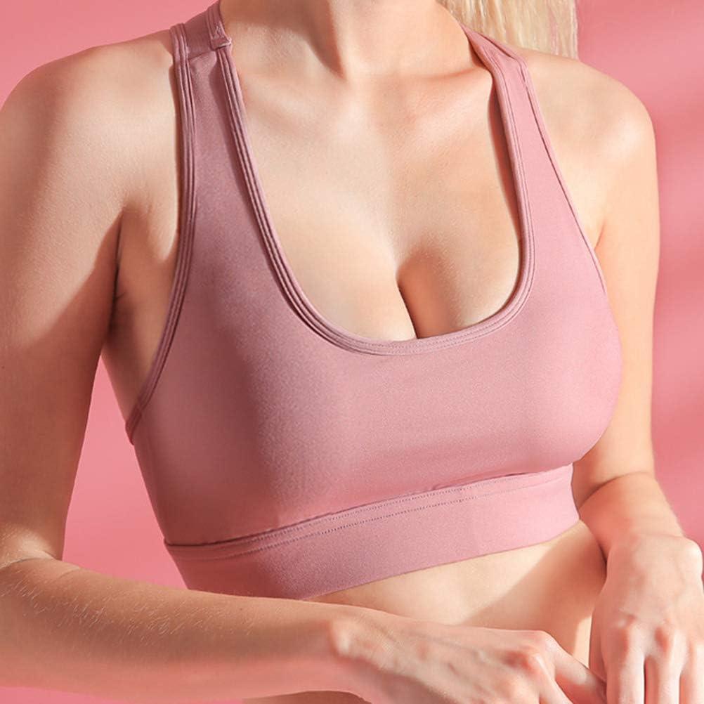 KUANDARMX Confortable Sports Mesh épissage Beau Soutien-Gorge Dos Courir Respirant Rassemblement Mesh Formation Sportive sous-vêtements de Sport Présent B