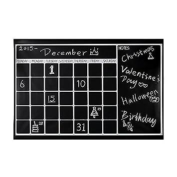 GenialES 60*90cm Calendario Pizarra de Vinilo y Adhesiva ...