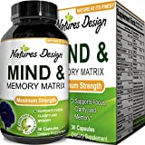 Super Potent & Natural Brain, Memory & Mind Booster ● Nootropic Mind Supplement Natural Power Boost for Day and Night! Increase Function ● Works Fast for Women and Men ● USA Made By Natures Design
