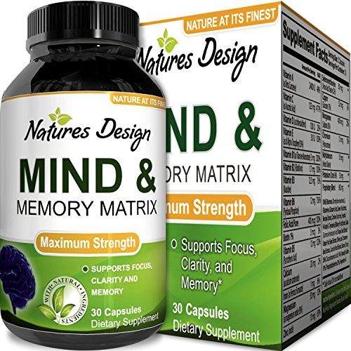 Super Potent & Natural Brain, Memory & Mind Booster  Nootropic Mind Supplement Natural Power Boost...