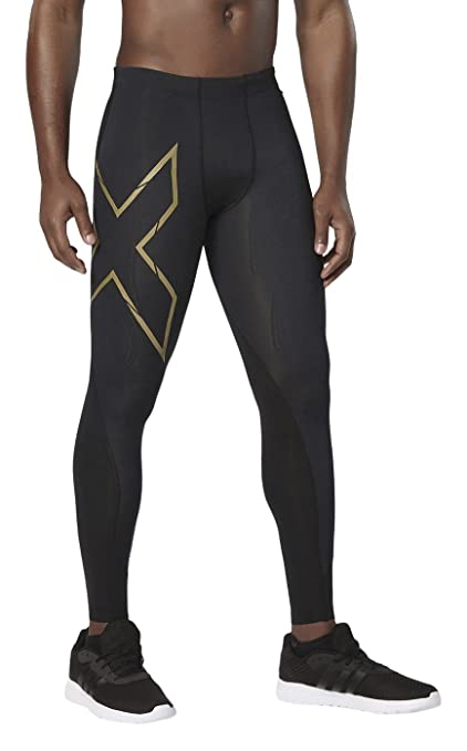 2XU Men s Elite MCS Compression Tights (Black Gold 9a712d4685bb