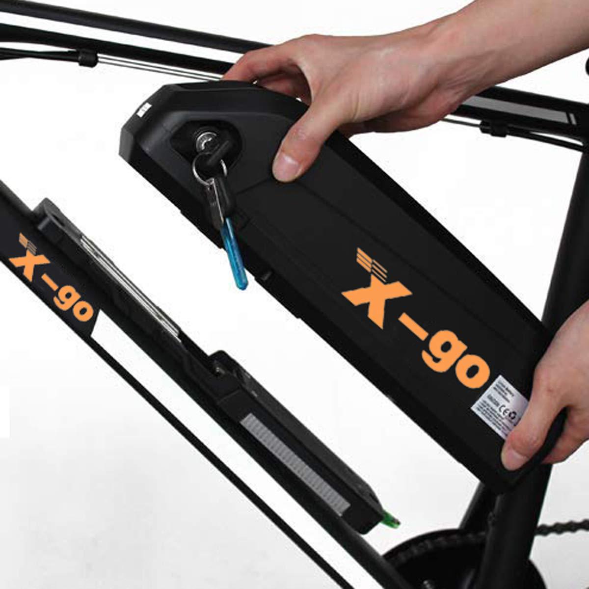 Descarga X-go Bateria para Bicicleta Electrica 48V 13AH Bateria Bici Electrica 48V Adecuado para Motor De 1000W con Cargador de 54V
