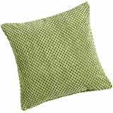 Chenille Spot Lime Green Cushion Cover 20inx20in (50cmx50cm) Approximately By Hamilton McBride by Hamilton McBride