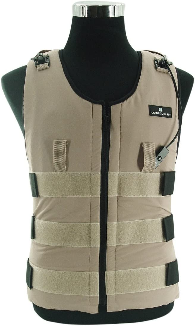 Ice Water Circulating Cooling Vest Tan Detachable Bladder 3XL-4XL