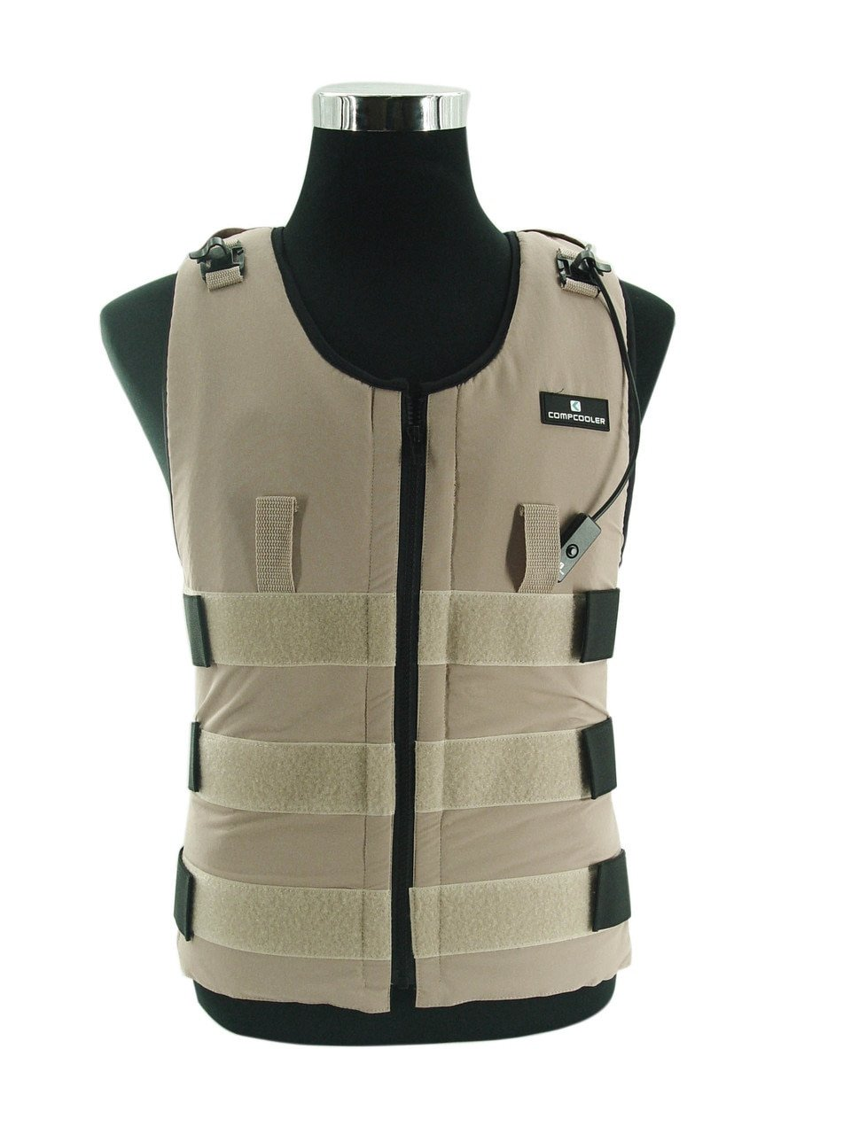 Ice Water Circulating Cooling Vest Tan Detachable Bladder M-L by Compcooler (Image #1)