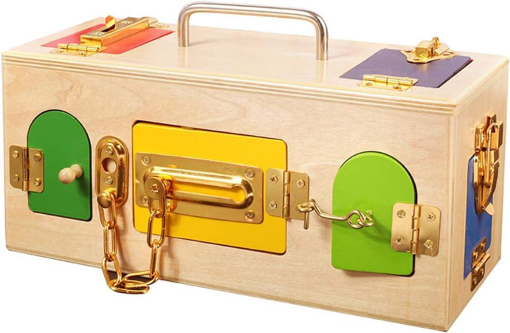 perfeclan Montessori Key Caja de Madera Juego Educativo ...