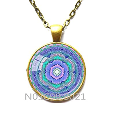 Amazon com: Chakra Pendant Throat Chakra Necklace Aqua Blue