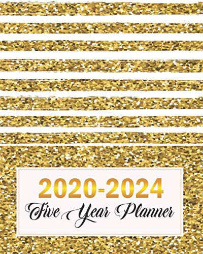 2020-2024 Five Year Planner: Golden Line, Five Year with Holidays and Inspirational Quotes, Monthly Schedule Organizer Agenda Journal por Emily Bell