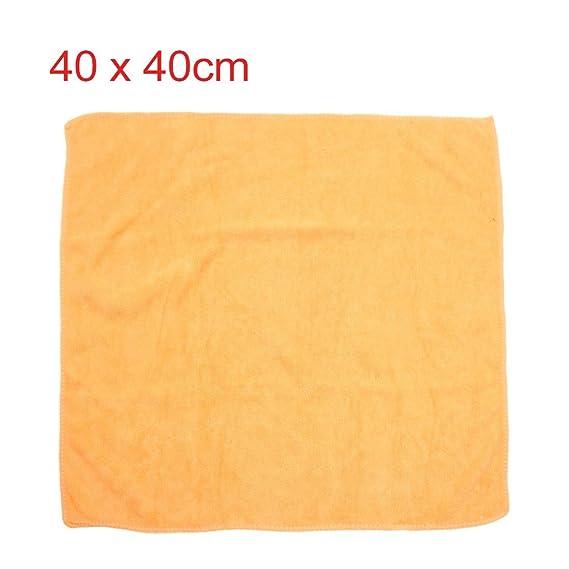Amazon.com: eDealMax 3 piezas Amarillo púrpura del café del coche del Color Pulido de limpieza Lavado de toallas 40cm x 40cm: Automotive
