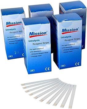 100 misión proteína de glucosa en sangre, Cetona, PH tiras de prueba de orina