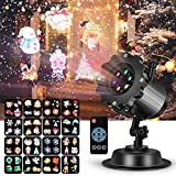LED Projector Light for Christmas Party Garden Halloween Wedding Decoration, Waterproof Holiday Spotlight Landscape Lamp for Indoor Outdoor Use Remote Control & 16 Slides
