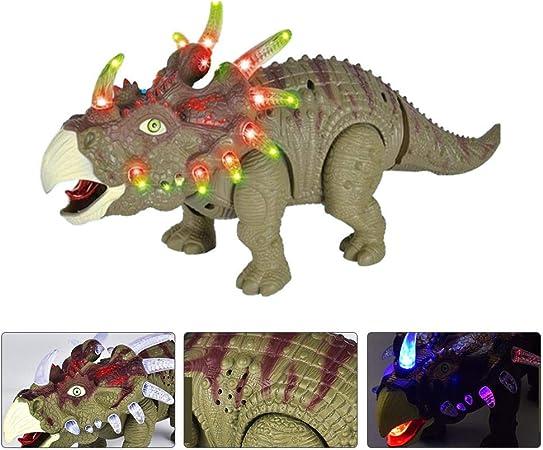 Forme Dragon électrique dinosaures avec lumière tricératops Marche