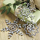 Christmas Decorations by Suzanne Kasler - Large Jeweled Snowflake Ornaments - Set of 3 offers