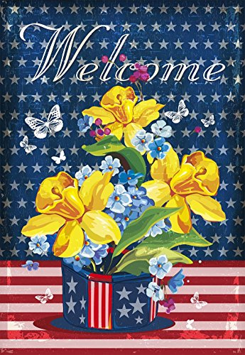 JoyPlus Welcome Butterfly & Flower American Spring Summer Ga