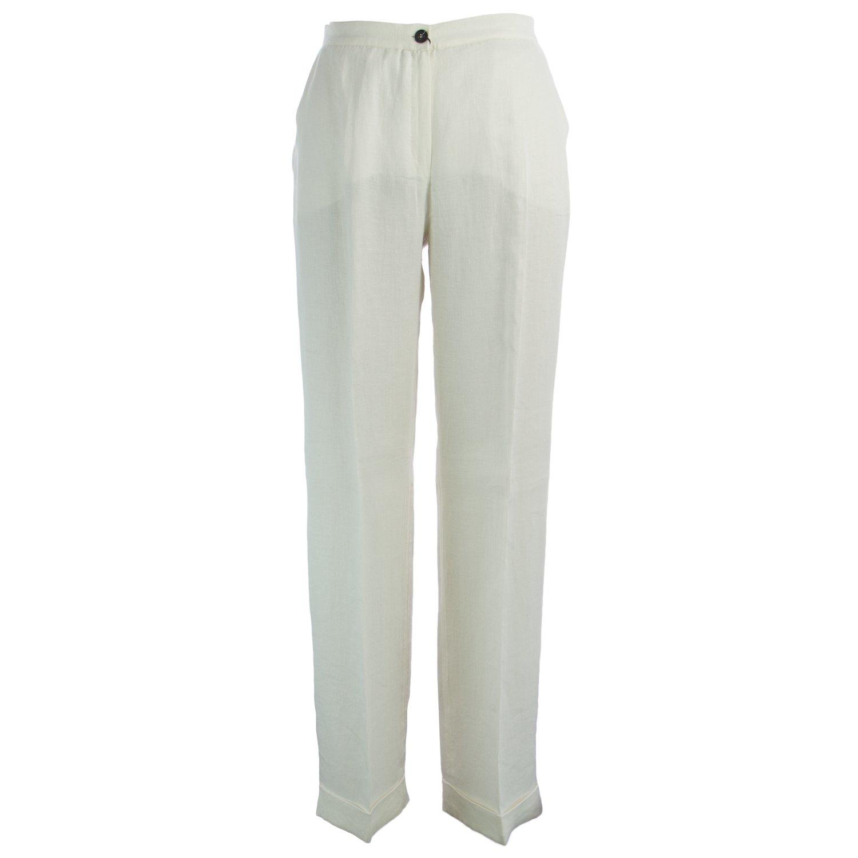 Marina Rinaldi Women's Raquel High Waisted Pants 16W/25 White
