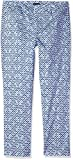 NYDJ Women's Corynna Ankle Pants in Printed Stretch Sateen, Moorish Tile Blue, 12