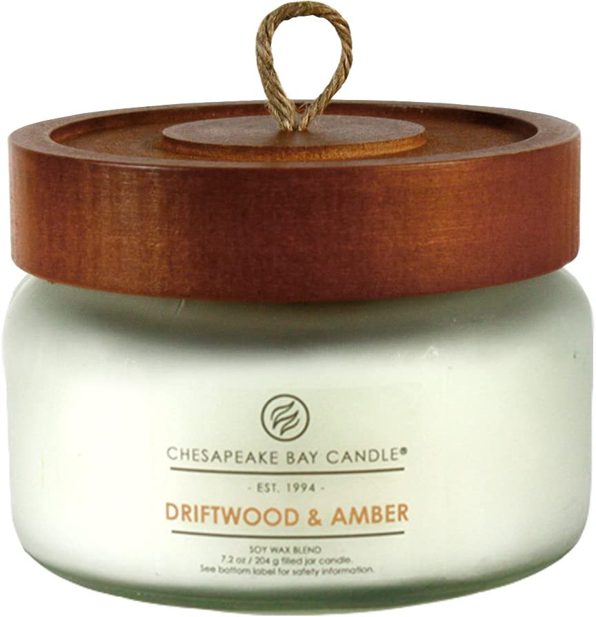 Chesapeake Bay Candle Scented Candle, Driftwood & Amber, Small Jar