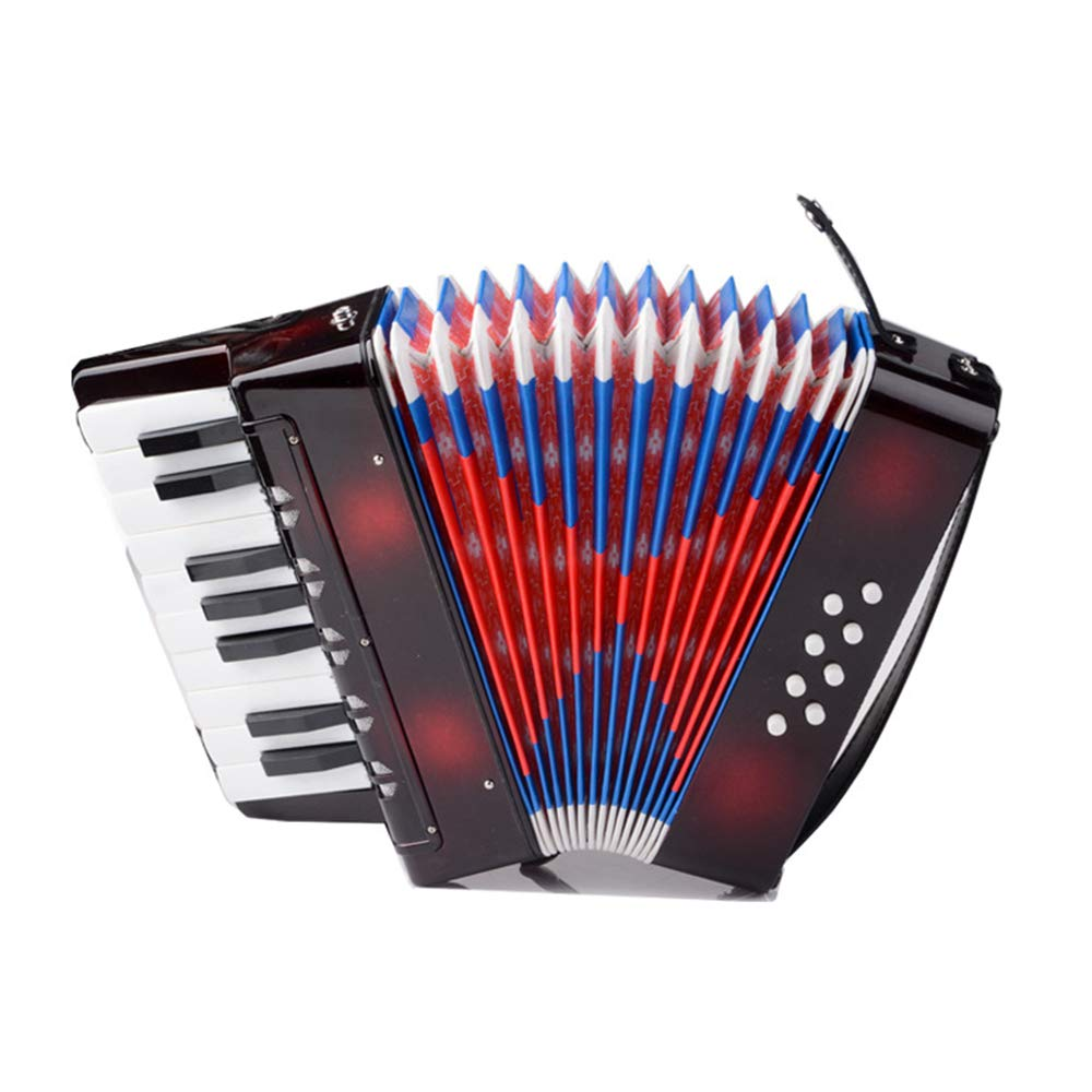 TECHLINK Childern Accordion Musical Education Musical Instrument Accordions Toy Portable 17 Keys 8 Bass Promotes Children's Gift