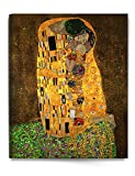 DecorArts - The Kiss, by Gustav Klimt. Giclee printed on canvas stretched gallery wrapped, ready to hang 24x30""