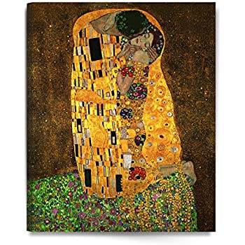 """DecorArts - The Kiss, by Gustav Klimt. Giclee printed on canvas stretched gallery wrapped, ready to hang 24x30"""""""