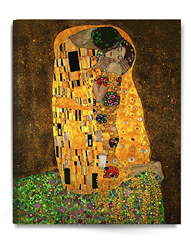 DECORARTS - The Kiss, by Gustav Klimt. Giclee Printed on Canvas Stretched Gallery Wrapped, Ready to Hang 24x30 ()