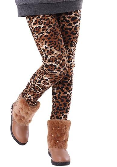 4627913ab63e4 GuaGuaEgg Girls Leopard Printed Velvet Thinck Leggings Children Pants Blown  6T