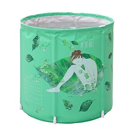 Neilyn Bañera para adultos Bañera para el hogar SPA Bañera Bañera plegable Bañera para barril Plástico